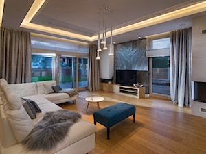 Dom w Rotmance - Średni szary biały salon, styl nowoczesny - zdjęcie od Arte Dizain