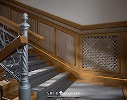 Regionalna Dyrekcja Lasów Państwowych w Gdańsku - Duże szerokie schody dwubiegowe drewniane betonowe, styl klasyczny - zdjęcie od Arte Dizain
