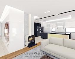 Dom w Gdyni - Mały biały salon - zdjęcie od Arte Dizain