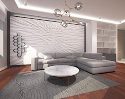Mieszkanie w Gdyni Małym Kacku - Mały szary salon - zdjęcie od Arte Dizain