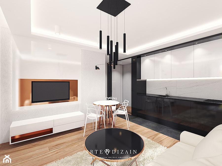 Wizualizacja Wnętrz Apartamentów W Sopocie Kuchnia Styl