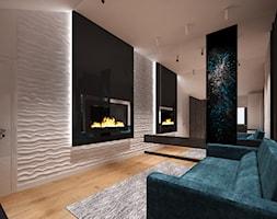 Penthouse w Gdańsku - Mały biały salon - zdjęcie od Arte Dizain