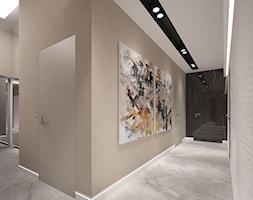 Penthouse w Gdańsku - Średni beżowy hol / przedpokój - zdjęcie od Arte Dizain