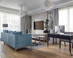 Apartament Gdynia Nowe Orłowo - Mały szary salon - zdjęcie od Arte Dizain