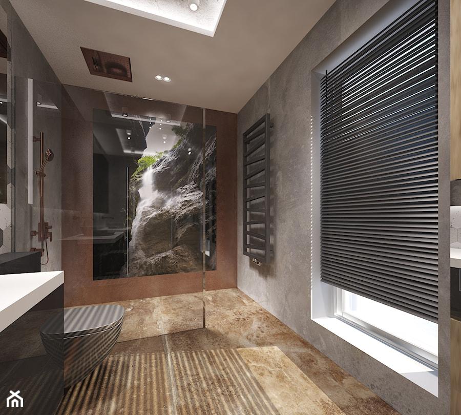 Dom w Rypinie - Średnia łazienka w bloku w domu jednorodzinnym z oknem - zdjęcie od Arte Dizain