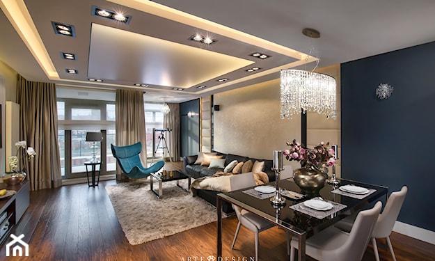 elegancki salon w stylu nowoczesnym