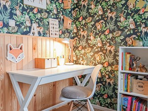 Przytulny home office