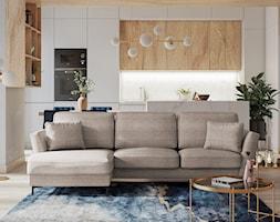 Nowoczesny taras z rattanową sofą ogrodową Sprinkle SELSEY - Salon, styl nowoczesny - zdjęcie od Selsey.pl - Homebook