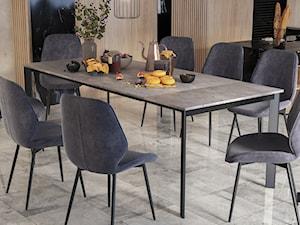 Jadalnia z rozkładanym stołem z blatem betonowym Kayko SELSEY