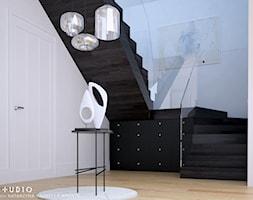 dom dla pary alternatywa - Duży biały hol / przedpokój, styl skandynawski - zdjęcie od BARBELLA INTERIORS ( dawniej 5tud10 architektoniczne)