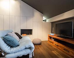 Eklektyczny Pruszków - Średnie czarne szare biuro domowe na poddaszu, styl eklektyczny - zdjęcie od EG projekt