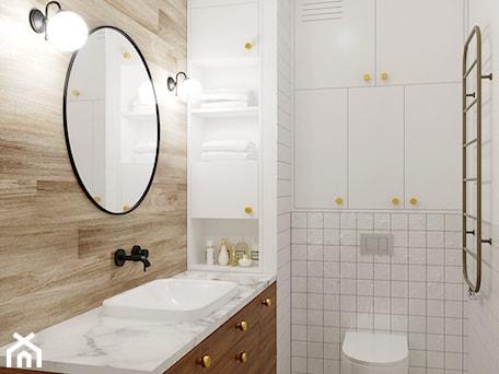 Aranżacje wnętrz - Łazienka: Zielone Bielany - Mała szara łazienka w bloku w domu jednorodzinnym bez okna, styl skandynawski - EG projekt. Przeglądaj, dodawaj i zapisuj najlepsze zdjęcia, pomysły i inspiracje designerskie. W bazie mamy już prawie milion fotografii!