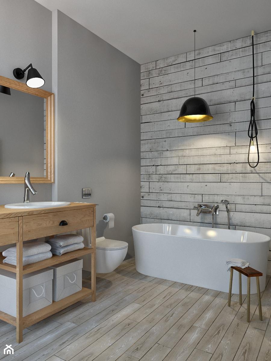 al wilanowska rednia azienka styl skandynawski zdj cie od eg projekt homebook. Black Bedroom Furniture Sets. Home Design Ideas