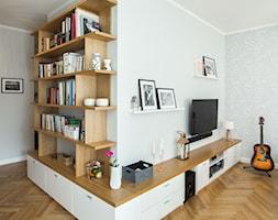 Skandynawski Żoliborz - Biały salon, styl skandynawski - zdjęcie od EG projekt - Homebook