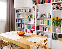 Grochowki Styl - Średnia zamknięta biała jadalnia jako osobne pomieszczenie, styl nowoczesny - zdjęcie od EG projekt