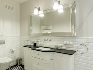 Elegancja na Powiślu - Średnia beżowa łazienka bez okna, styl prowansalski - zdjęcie od EG projekt