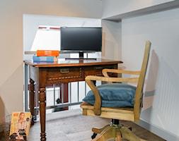 Eklektyczny Pruszków - Małe czarne białe biuro kącik do pracy w pokoju, styl eklektyczny - zdjęcie od EG projekt - Homebook