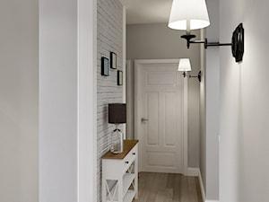 Rodzinne Pastele - Mały biały szary hol / przedpokój, styl skandynawski - zdjęcie od EG projekt