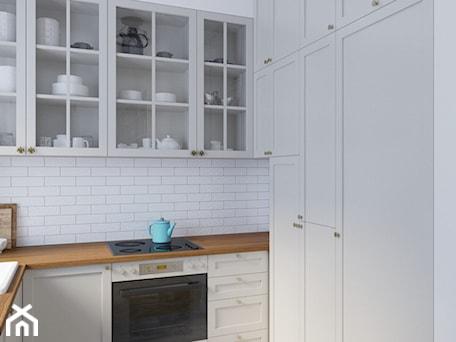 Aranżacje wnętrz - Kuchnia: Zielone Bielany - Mała otwarta biała kuchnia w kształcie litery u, styl skandynawski - EG projekt. Przeglądaj, dodawaj i zapisuj najlepsze zdjęcia, pomysły i inspiracje designerskie. W bazie mamy już prawie milion fotografii!