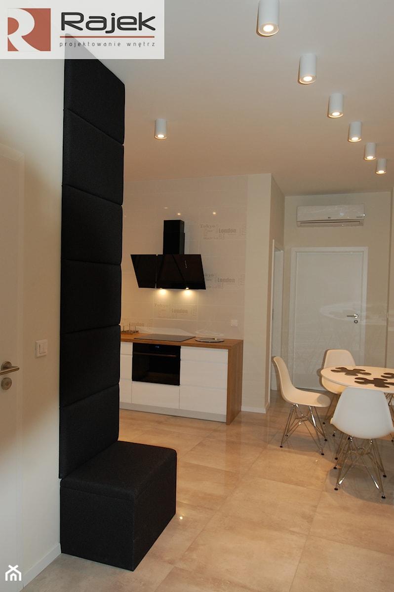 Mieszkanie w Warszawie Styl Nowoczesny - Średnia kuchnia, styl nowoczesny - zdjęcie od Rajek Projektowanie Wnętrz