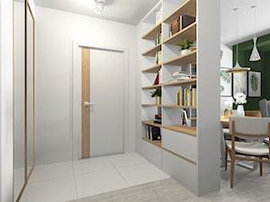 Salon i pracownia - Mały biały hol / przedpokój, styl nowoczesny - zdjęcie od Joanna Kłusak Architekt