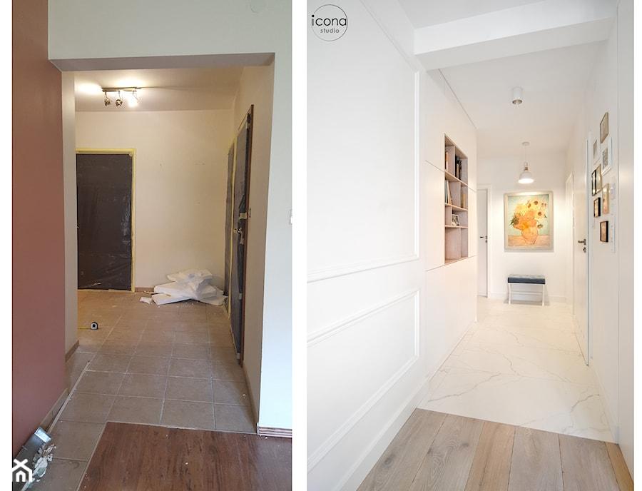Metamorfoza mieszkania w Piasecznie - Średni biały hol / przedpokój, styl eklektyczny - zdjęcie od Icona Studio