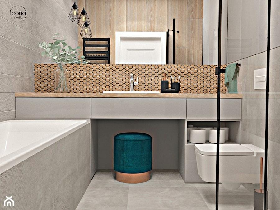 Segment w Józefosławiu 1 - Łazienka, styl nowoczesny - zdjęcie od Icona Studio