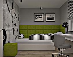 Mieszkanie w Piasecznie 3 - Średni szary zielony pokój dziecka dla chłopca dla nastolatka, styl nowoczesny - zdjęcie od Icona Studio