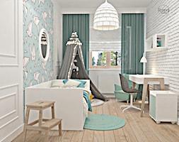 Segment w Józefosławiu 1 - Średni biały niebieski pokój dziecka dla chłopca dla ucznia dla malucha, styl nowoczesny - zdjęcie od Icona Studio - Homebook