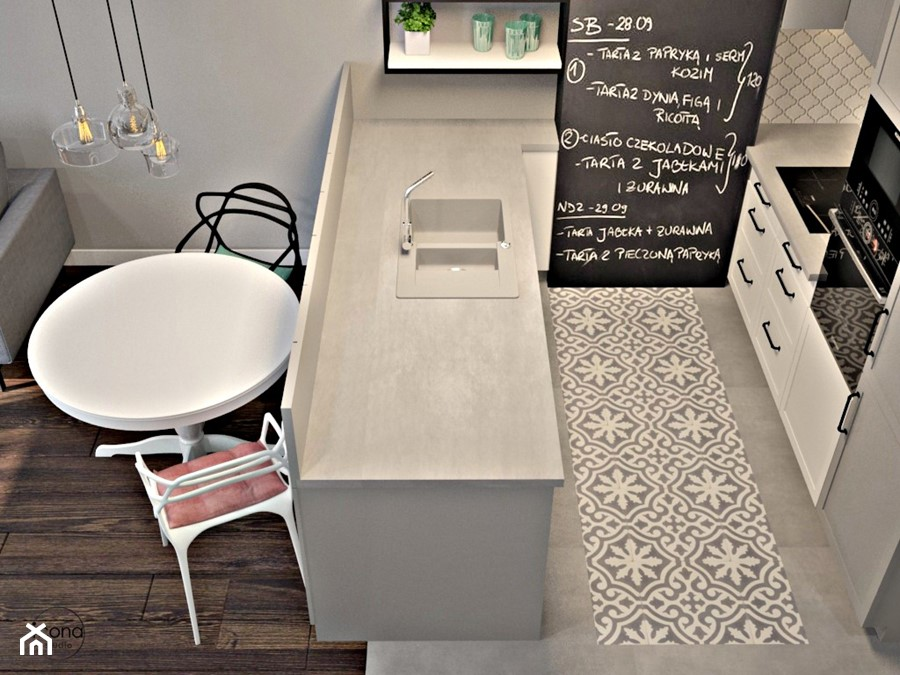 Metamorfoza mieszkania w Piasecznie 2 - Kuchnia, styl eklektyczny - zdjęcie od Icona Studio