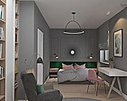 Segment w Józefosławiu 1 - Duża czarna sypialnia małżeńska, styl nowoczesny - zdjęcie od Icona Studio - Homebook