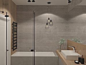 Segment w Józefosławiu 1 - Mała szara łazienka w bloku w domu jednorodzinnym bez okna, styl nowoczesny - zdjęcie od Icona Studio