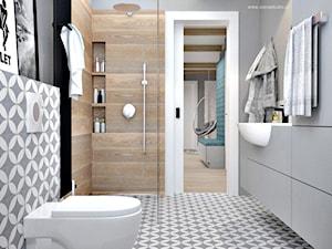 Poddasze w Głoskowie - Mała szara łazienka w domu jednorodzinnym, styl nowoczesny - zdjęcie od Icona Studio
