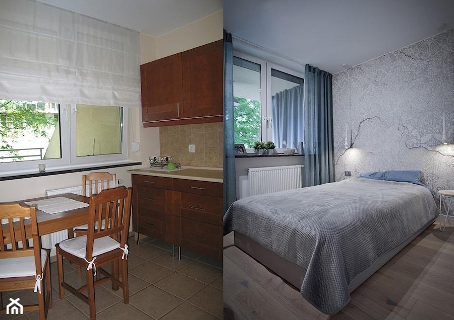 Metamorfoza mieszkania w Piasecznie - Sypialnia, styl eklektyczny - zdjęcie od Icona Studio