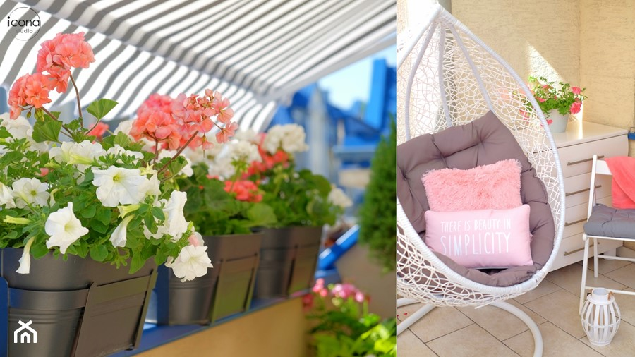 Metamorfoza mieszkania w Piasecznie - Taras, styl skandynawski - zdjęcie od Icona Studio