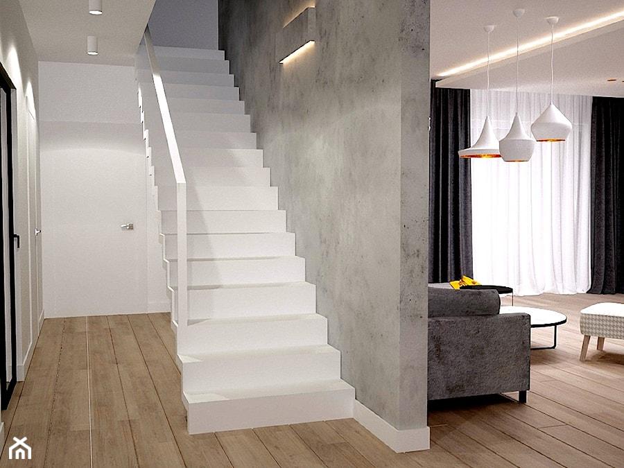 Dom koło Konstancina - Średnie schody jednobiegowe, styl nowoczesny - zdjęcie od Icona Studio