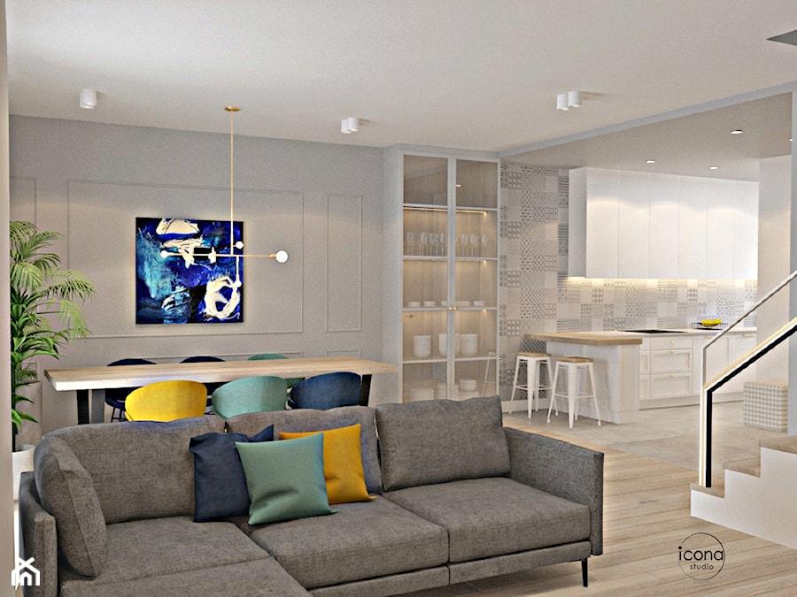 Segment w Józefosławiu 1 - Salon, styl nowoczesny - zdjęcie od Icona Studio