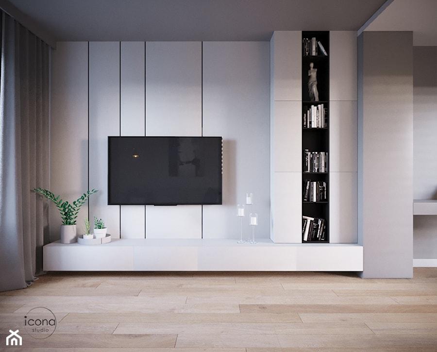 Mieszkanie w Piasecznie 6 - Salon, styl minimalistyczny - zdjęcie od Icona Studio