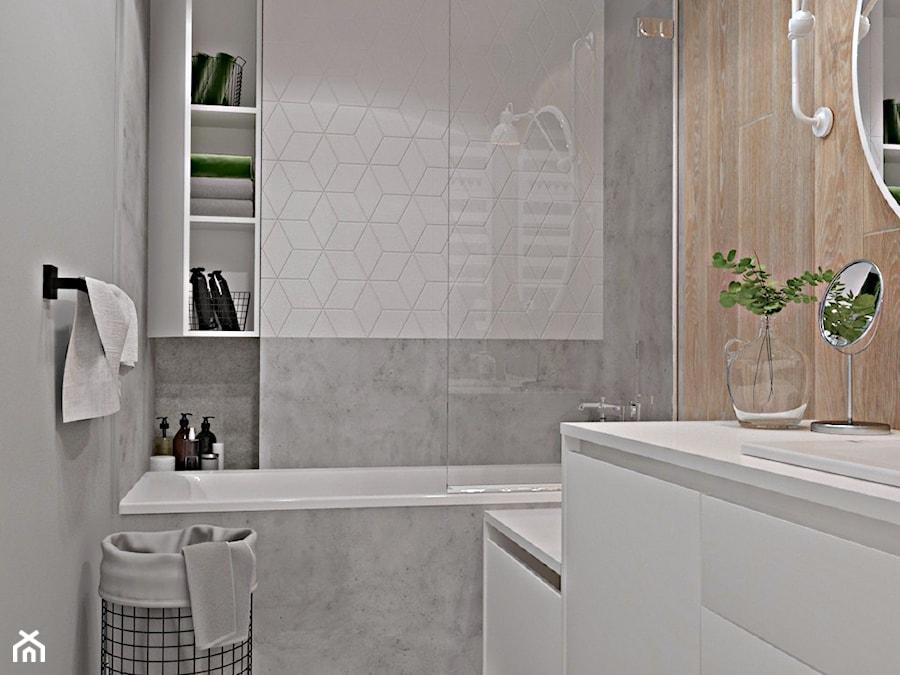 Metamorfoza mieszkania w Piasecznie 4 - Łazienka, styl nowoczesny - zdjęcie od Icona Studio