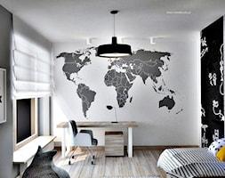 Dom w Warszawie - Średni pokój dziecka dla chłopca dla ucznia dla nastolatka, styl nowoczesny - zdjęcie od Icona Studio