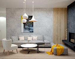 Dom koło Konstancina - Średni szary salon, styl nowoczesny - zdjęcie od Icona Studio
