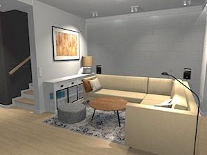 Dom - Warszawa Włochy - Mały szary salon, styl nowoczesny - zdjęcie od ZAGGO Dorota Pielaszek