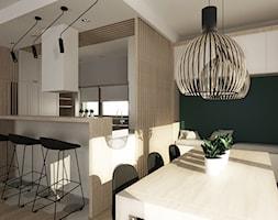 Strefa dzienna w domu jednorodzinnym - zdjęcie od Femberg Architektura Wnętrz