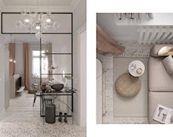Mieszkanie Gdańsk Wrzeszcz - Mały szary hol / przedpokój, styl eklektyczny - zdjęcie od asymetric studio