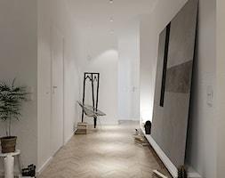 Mieszkanie_Gdynia_Orłowo - Średni biały hol / przedpokój, styl skandynawski - zdjęcie od asymetric studio
