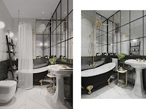 Mieszkanie Gdańsk Wrzeszcz - Średnia łazienka w bloku w domu jednorodzinnym bez okna, styl eklektyczny - zdjęcie od asymetric studio