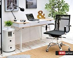 Biurko BODEN wraz z fotelem biurowym LION - zdjęcie od Mebel-Partner