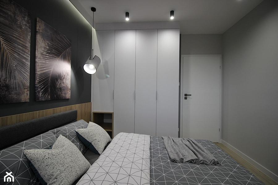 Nowoczesny apartament, 72m2 - Sypialnia, styl nowoczesny - zdjęcie od MK HOME