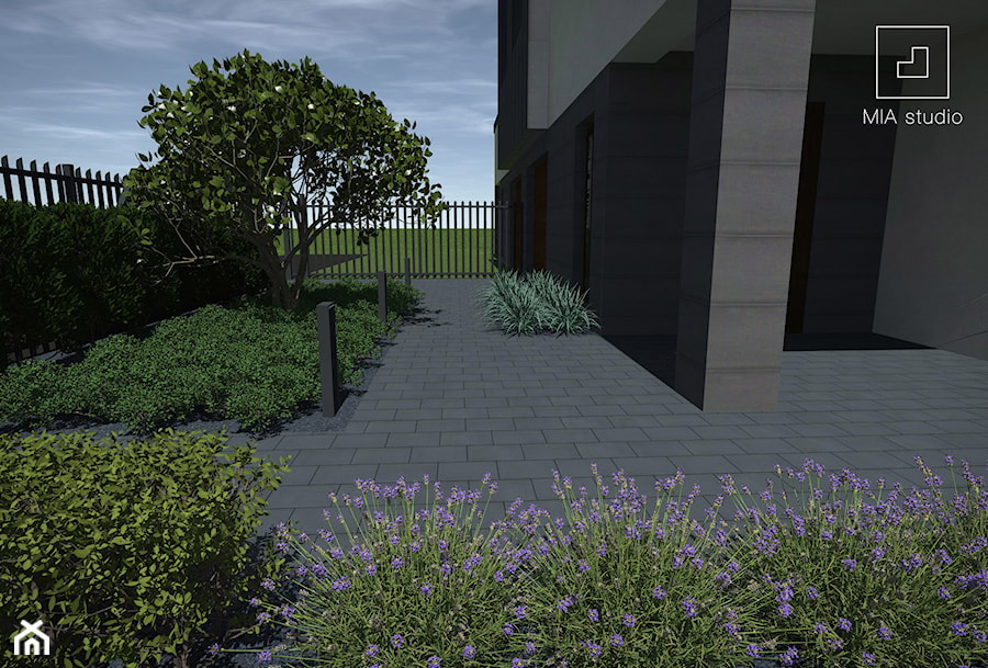 Ogród przed domem - zdjęcie od MIA studio