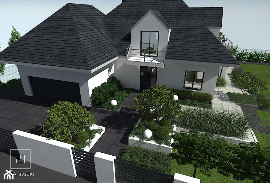 Ogród nowoczesny przed domem - zdjęcie od MIA studio